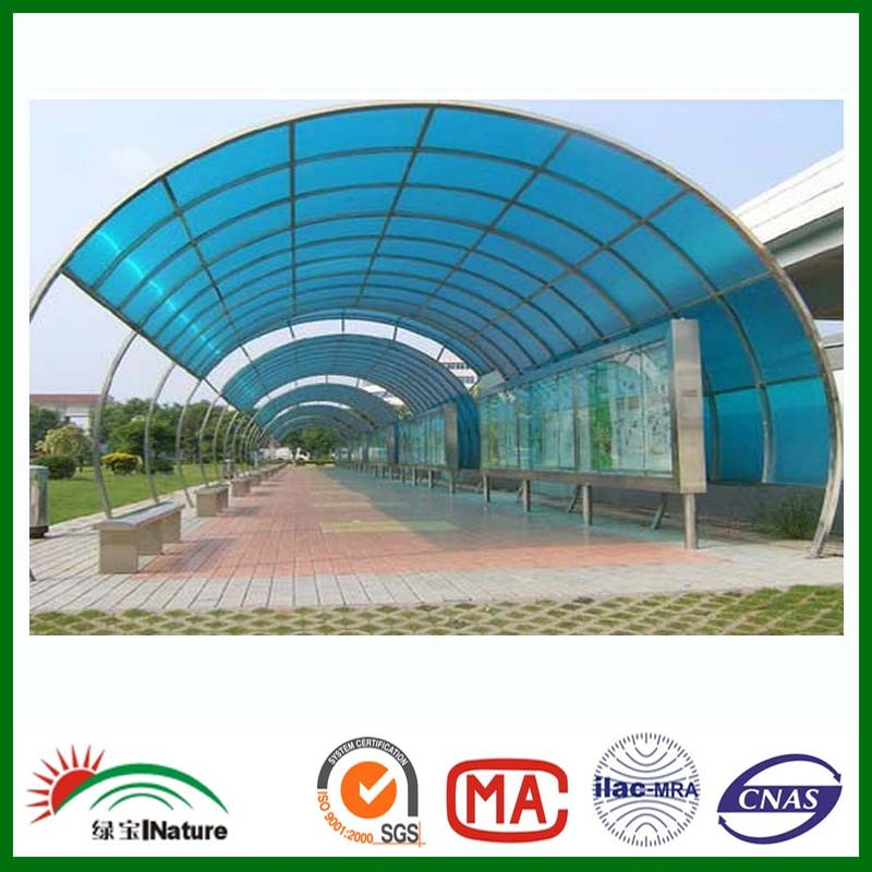 BLUE POLYCARBONATE SHEET FOR ADVERTISING