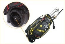 Helix golf bag with many compartment and wheels / wheels leather golf bag with shoe compartment