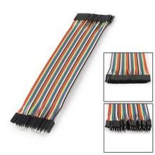 Female Male 40P 2.54mm 20cm Jumper Wire Cord Ribbon for Arduin Breadboard