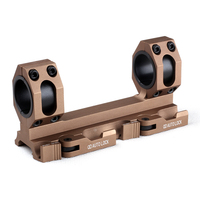 25.4mm 30mm Dual Hole Double Ring Scope Mount with Weaver Rail