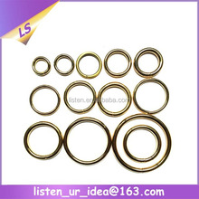 customize light gold metal material different sizes o ring
