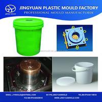 Taizhou Huangyan OEM Custom 1L plastic paint bucket mould with 4 cavity / moldes de baldes plasticos 1 litro con 4 cavidades