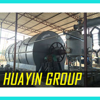 Pollution free waste tyres and plastic oil extraction machine