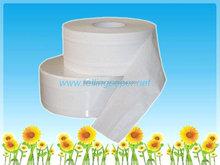 Soft high strength tissue paper jumbo roll