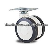 dual wheel caster