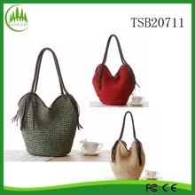 New Lady Tassel Paper Straw Bags Woven Vintage Large Shoulder Bag Women Summer Handbag Beach Bag