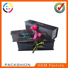 Fancy Design Glossy Gift Paper Packaging Box with Ribbon Closure