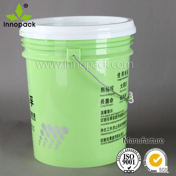 Wholesale 5 gallon cheap plastic paint bucket with lid for 5 gallon bucket of paint price