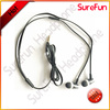 mobile earphone&earbud with mic and 3.5mm jack& flat cable