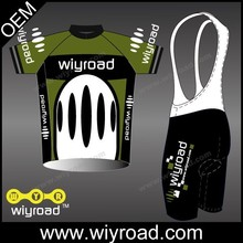 Free design quick dry biker shorts/cycling jersey short set/full zip cycling jersey and knicks with very good quality