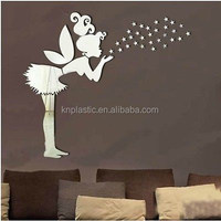 dancing girl fairy acrylic wall mirror stickers