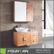 High End Practical Vanity Furniture 15mm Yellow Melamine Bathroom Sink Vanity Top