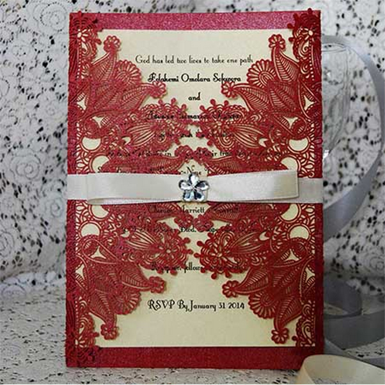 wholesale china factory price wedding invitation laser
