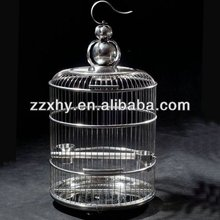 Hot Chinese Style Stainless Steel Round Bird Cage Parrot Cage Factory Directly Wholesale