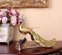 European Style Resin Peafowl Crafts