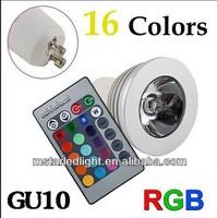 3W remote control dmx rgb mr16 led spotlight