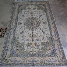 handmade double knots wool and silk apartment corridor carpet