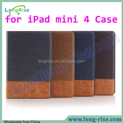 Stitching Leather Case for iPad Mini 4, for iPad mini 4 Case with Card Slot and Photo Frame