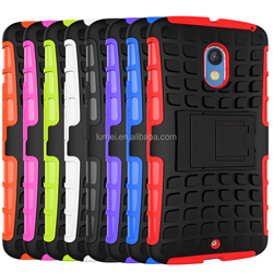 For Motorola Moto X Play Popular Shockproof TPU+PC Stand Back Case Cover