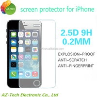 9h No Bubble Anti Shock Screen Film,Blue Light Cut Tempered Glass Screen Protector For iPhone 5 /5s