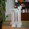 Commercial plastic led glowing wedding decorating roman pillar