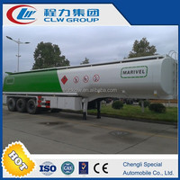 draw bar fuel tank trailer world leading fuel tank truck CLW 3axles quality tank semitrailer