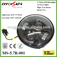 """2015 New arrival! Moto Accessories 5.75"""" Harley Moto for JK, Led Headlight High/Low 5-3/4"""" for Harley Motorcycle headlights"""