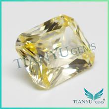 6A Lab creado suelta piedras preciosas para la joyería amarillo claro octagon fuego cz diamond cut
