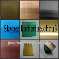 304 stainless steel sheet coloured hairline surface