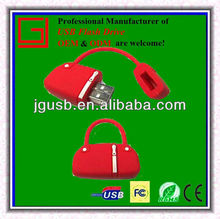 Novelty!!! Fashion style bag custom pvc usb,memory stick in factory price