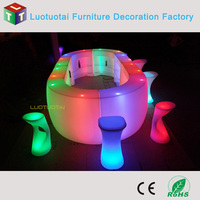 In stocks--2015 Hot sales event nightclub LED Round snake Bar Counter