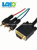 factory sell vga to yellow rca male cable