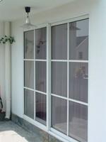 Modern Aluminium Sliding Glass Door with Grill PNOC0014SLD