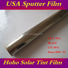 Multiple color options scratch resistant protective automobile glass solar film