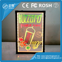 Transparent Panel Glowing Board Aluminum Alloy Frame Fluorescent Marker Board