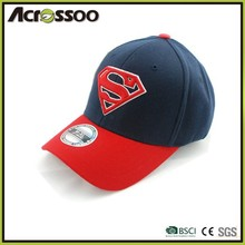 6 panel adult promotional two colors snapback cotton sports cap