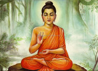 indian buddha oil paintings