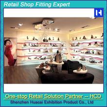 Shoe store display racks, furniture for shoe store