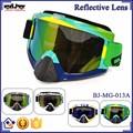 Bj-mg-013a fabricante adulto reflexivo brasil marco de encargo racing anteojos de la motocicleta