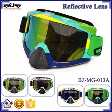 BJ-MG-013A Manufacturer Adult Reflective Brazil Frame custom racing goggles motorcycle
