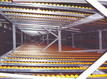 china CE certificate roller racking system mobile warehouse shelving tire rack storage system