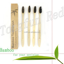 Most selling oem eco bamboo bristle adult disposable toothbrush for hotels