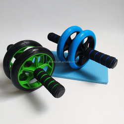 Dual Abdominal Ab Core Wheel Roller Fitness Exercise Equipment