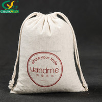 nature cotton draw string promotional bag with printing