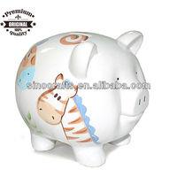 factory directly custom ceramic handpaint cute pig bank