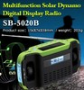 SORBO Wholesale Dynamo Rechargeable AM FM Portable Radio with Solar Charger for Mobile,Radio with Cranking LED Flashlight Torch