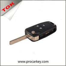 Chevrolet BUICK CAR AUTO remoto 3 botones FLIP plegable en blanco hoja coches cubierta de SHELL KEY
