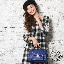 BELLUCY fashion bag solid versatile witty girl satchel