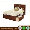 Hotel mobília do quarto conjunto de cama de casal tamanho com gavetas trbd- 046