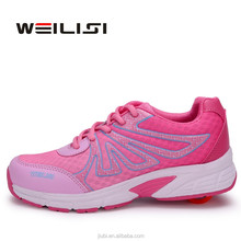 china brand sport strap on roller shoes skate with retractable wheels for children, high quality kids skate shoes sneakers price